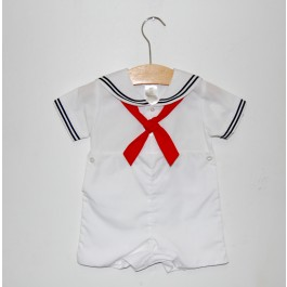 Petit Ami Sailor Suit, White