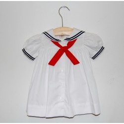 Petit Ami Sailor Dress, White