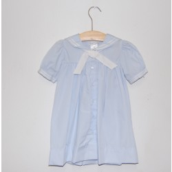 Petit Ami Sailor Dress, Light Blue